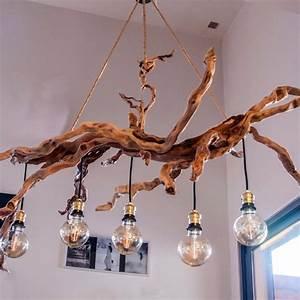 Lustre En Bois : original et imposant lustre en bois flott un grand march ~ Teatrodelosmanantiales.com Idées de Décoration