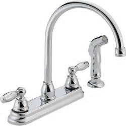 2 kitchen faucet peerless faucets two handle centerset kitchen faucet with side spray reviews wayfair