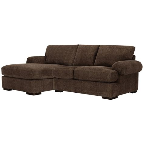 chaise microfibre city furniture belair dk brown microfiber left chaise