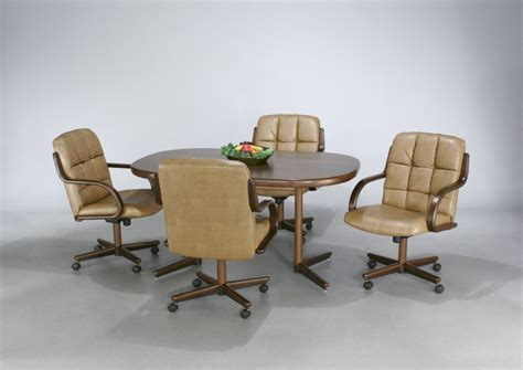 Dining room chairs with casters   KITCHENTODAY