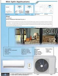 Diamondair Mini Split 24 000 Btu 20 Seer Heat Pump System