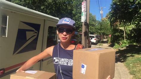 thanks mail carrier warming up mail carrier beats heat in tank top youtube