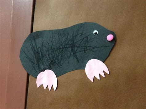 Mole Craft For Little Ones! Pom Pom Noses!