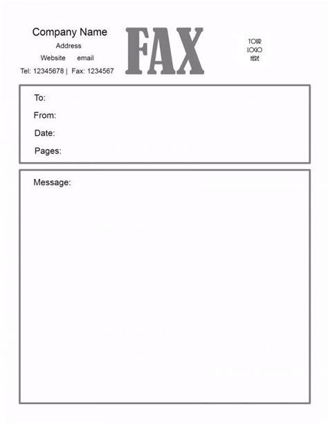fax cover sheet template customize   print