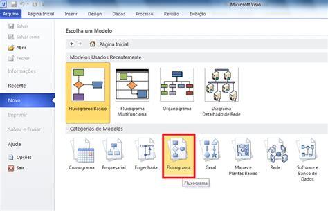 microsoft vizio como criar um fluxograma básico no microsoft visio 2010