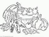 Coloring Harvest Fall Printable Sheets Christian Template Clipart Coloringhome sketch template