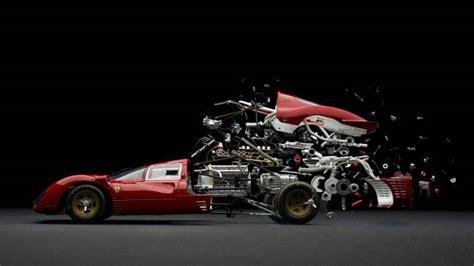 Abstract, Car, Sports Car, Parts, Mechanics, Ferrari