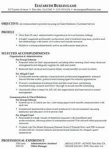 Career Objectives For Customer Service Administrative Assistant Resume Samples Tips With