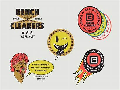 Dribbble Bench Clearers Marks Illustrations Secondary Spot