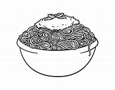 pasta with meatballs coloring pages coloring pages spaghetti and meatballs coloring page