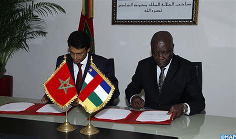 maroc centreafrique signature 224 rabat d un accord cadre pour la coop 233 ration dans le domaine de