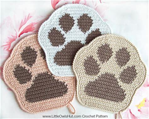 ravelry  paw decor potholder pillow amigurumi pattern  littleowlshut