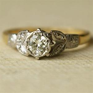 Vintage 20ct diamond wedding ring vintage 9k gold for Where can i sell my old wedding ring