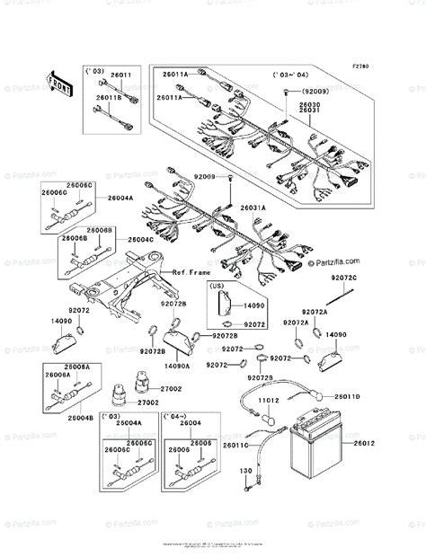Kawasaki Atv Oem Parts Diagram For Chassis Electrical