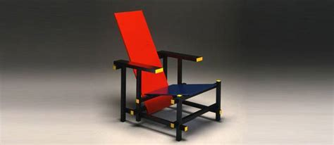 la chaise de rietveld culte du design la chaise et bleu de gerrit