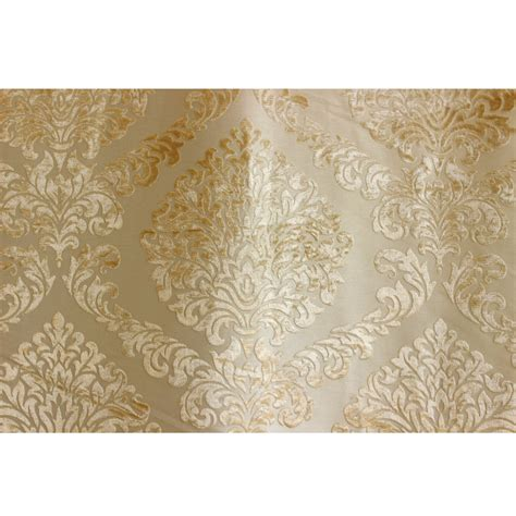 light gold n ivory damask fabric upholstery fabric curtain