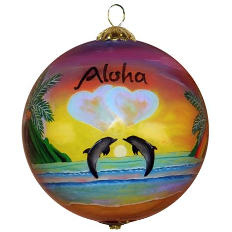 love blooms in hawaii christmas ornament maui by design