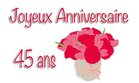 anniversaire de mariage 45 ans carte carte anniversaire mariage 45 ans bouquet