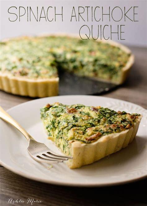 spinach artichoke quiche  easy    tastes