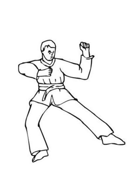 ausmalbilder karate karate malvorlagen