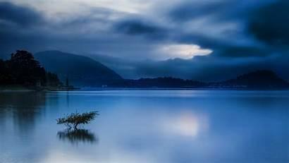 Calm Nature Landscape Water Lake Sunrise Mountain