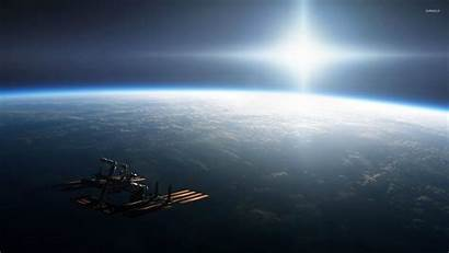 Earth Space Station International Wallpapers Iss Orbiting