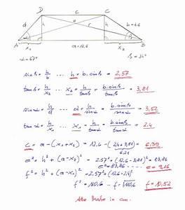 Trigonometrie Seiten Berechnen : zahlreich mathematik hausaufgabenhilfe trapez ~ Themetempest.com Abrechnung