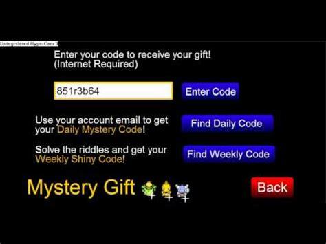 onix mystery gift code pokemon tower defense youtube