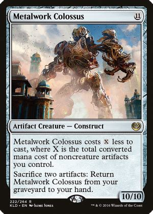metalwork colossus artifact creature construct