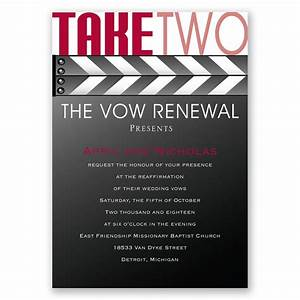 take two vow renewal invitation invitations by dawn With examples of wedding renewal invitations