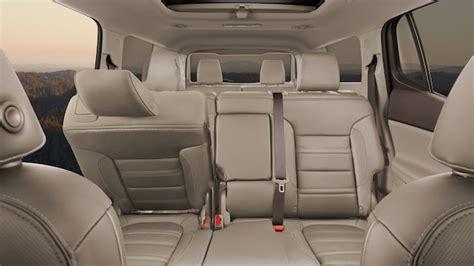 gmc acadia denali luxury mid size suv interior