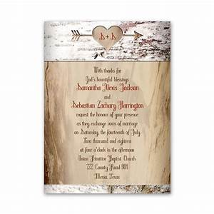 Aged Birch Petite Invitation Ann's Bridal Bargains