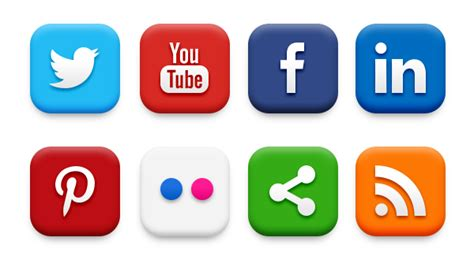 20 Popular Social Media Icons (psd & Png) Graphicsfuel