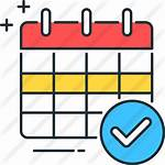 Icon Schedule Calendar Icons Programar Premium 5s