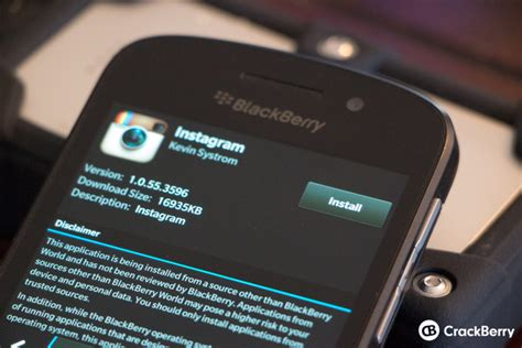 how to install an android app apk to a blackberry