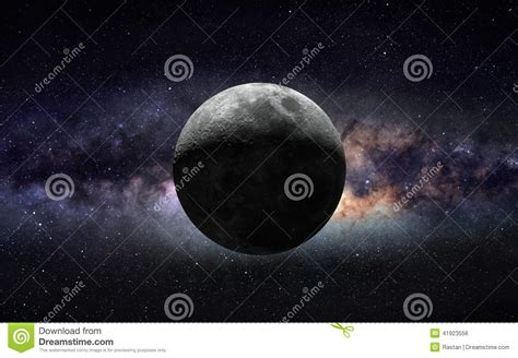 Moon Galaxy Stock Photo Image