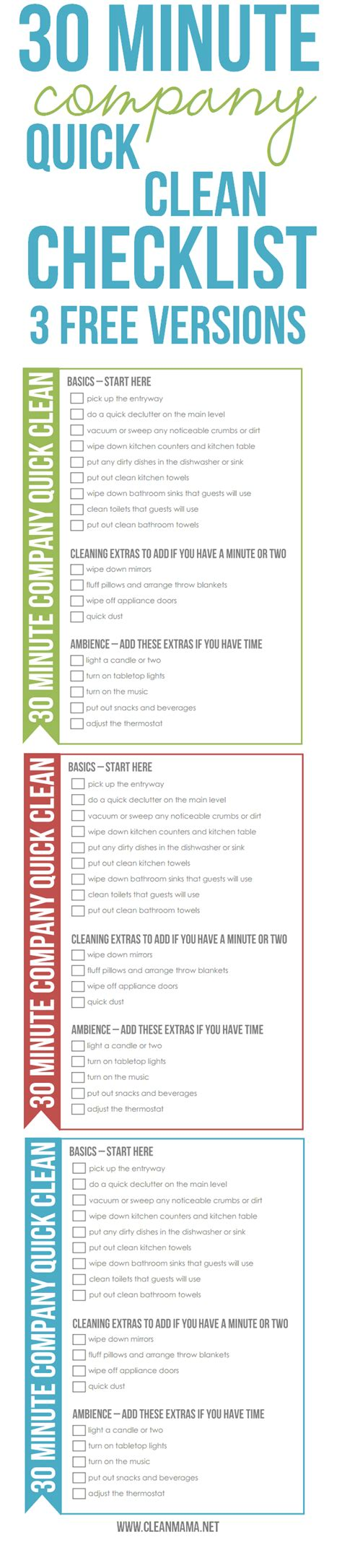 cleaning list simplify the season 30 minute company clean checklist clean