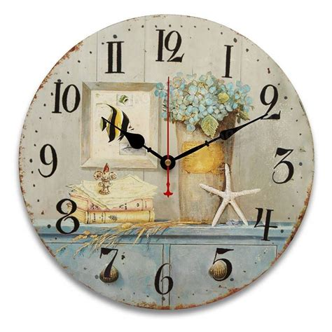 shabby chic kitchen clocks 34cm vintage wall clocks antique flavour kitchen retro style shabby chic home cafe decor at banggood