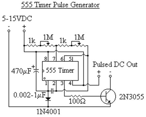 Timer Pulse Generator Electronics Projects