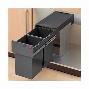 Einbau abfallsammler tandem 2 fach trennung ab 30 cm for Mülleimer ausziehbar