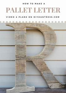 diy pallet wood letter first youtube video pallet With pallet wood letters