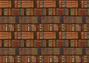 bookself old books wallpapers wall mural decor wallpaper ...