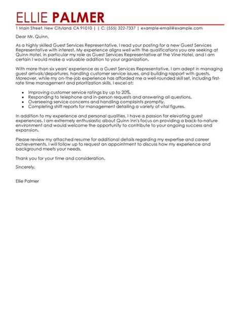 cover letter hospitality customer service stonewall services