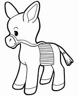 Coloring Pages Animal Donkey Realistic Printable Burro Tweet Pinata sketch template