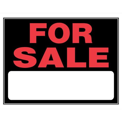 home ceiling fans sale shop the hillman group 15 in x 19 in for sale sign at