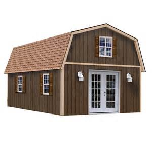 best barns richmond 16x32 wood shed free shipping