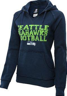 seattle seahawks womens point  full zip hoodie navy
