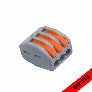 30 Pcs  Lot Wago 222 413 Universal Compact Wire Wiring