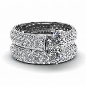 white gold marquise white diamond engagement wedding ring With diamond engagement wedding ring sets