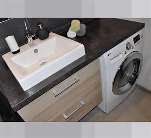 salle de bain machine a laver id deco pinterest With porte d entrée alu avec machine a laver sous vasque salle de bain